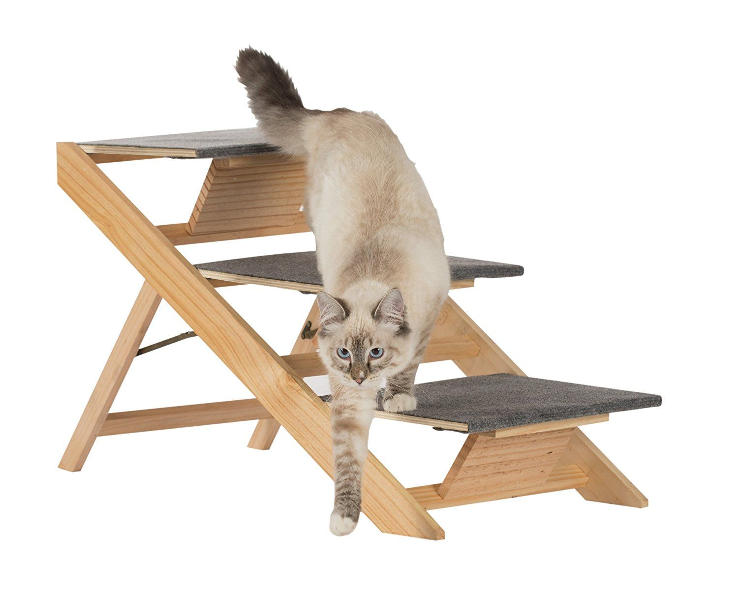 Paws and Purrs Portable Pet Stairs and Pet Ramp, Natural