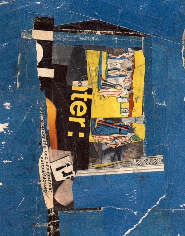 """Saatchi Online Artist: Micosch Holland; Paper, 2012, Assemblage / Collage """"Fundamental Blue"""""""