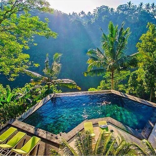 Jungle pools in ubud bali indonesia photography by for Pool design bali