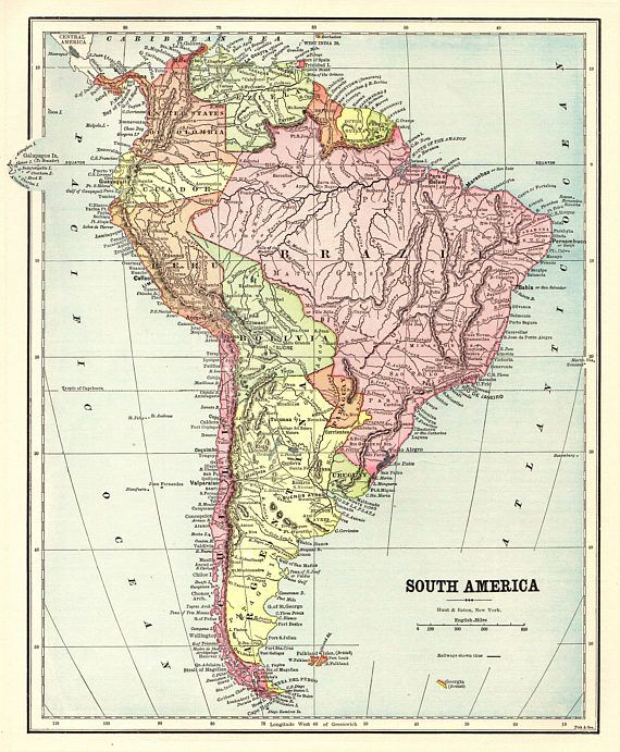 1893 antique map of south america map gallery wall art home jim 1893 antique map of south america map gallery wall art home gumiabroncs Gallery