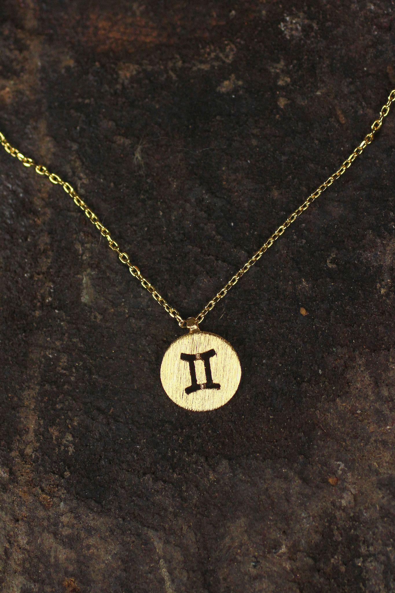Gemini Charm Necklace Genimi Pinterest Gemini Astrological