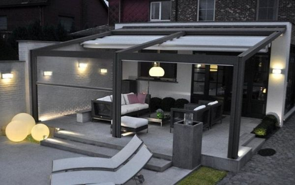 Schräge Dach Terrassendach-Aluprofile | Garten terrasse ...