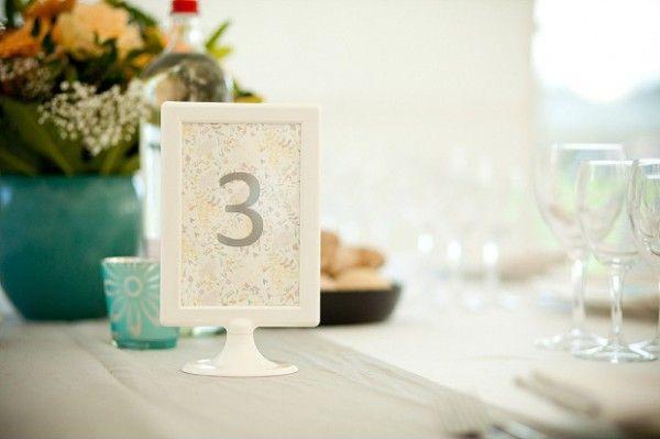 numerar a mesa dos convidados