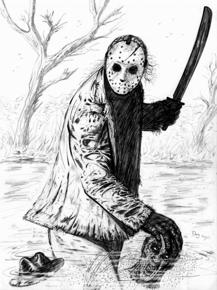 Freddy Krueger Coloring Pages | Jason drawing, Freddy ...