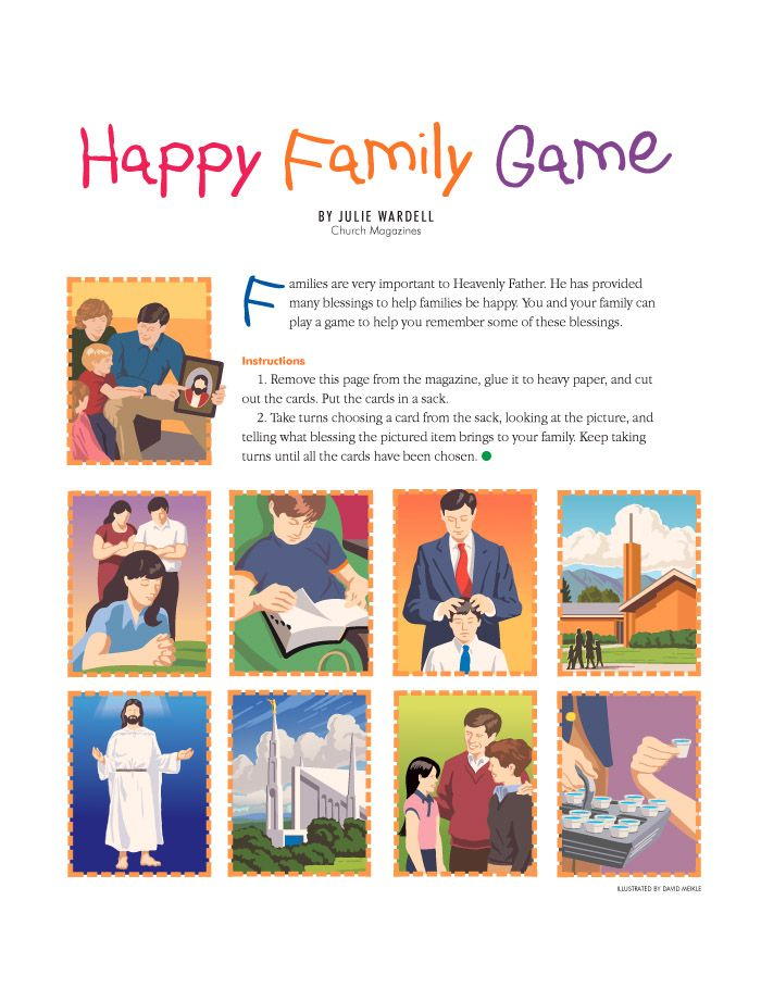 Happy Family Game Family Games Family Night Heavenly Father