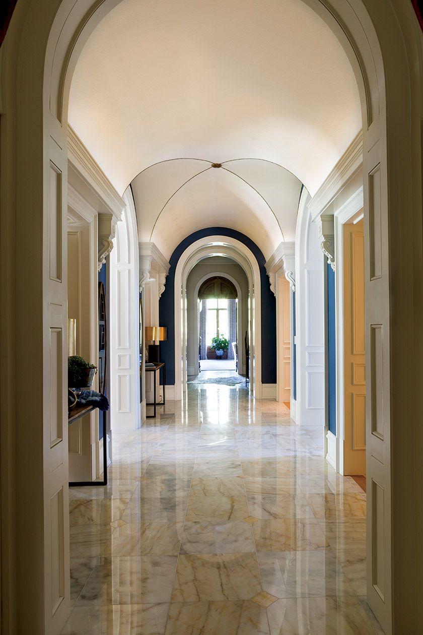 Remarkable Grossmueller Mcclure Enhanced The Barrel Vault Ceiling In A Home Interior And Landscaping Ferensignezvosmurscom
