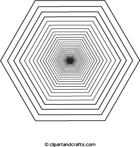 3d coloring page octagon design