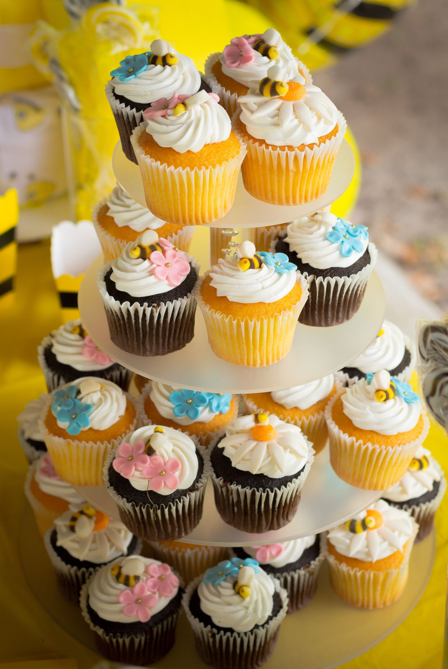 What Will It Bee Gender Reveal Cupcakes Gender Reveal Pinterest