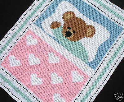 Crochet Patterns - SWEET DREAMS BABY BEAR *EASY | Battaniyeler ...