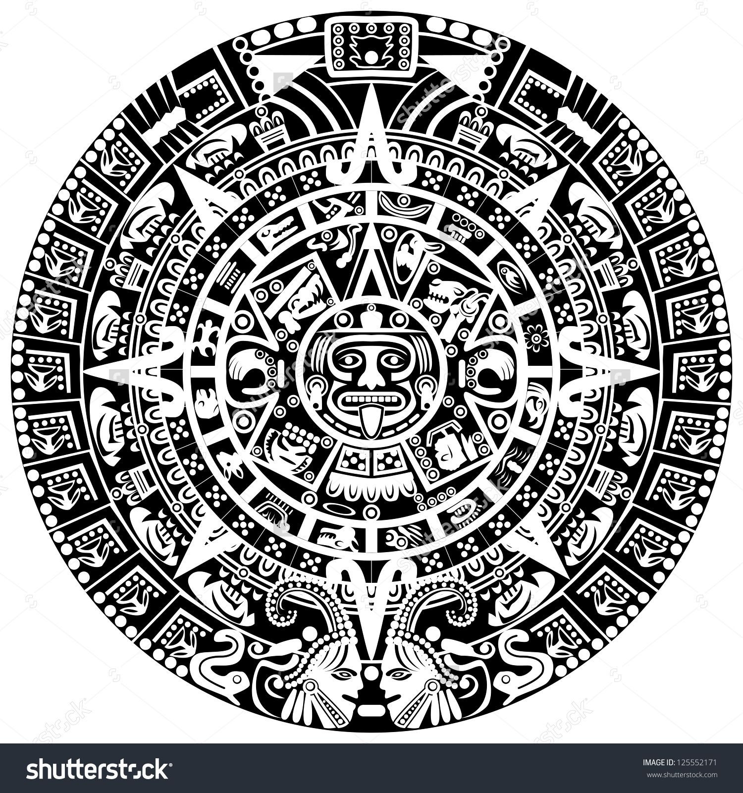 Aztec Figures Google Search Mayan Symbols Mayan Calendar