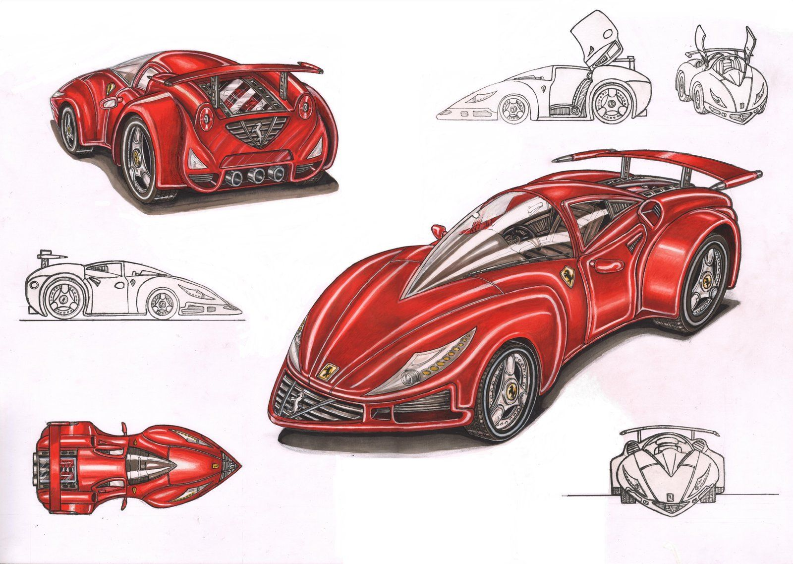 Ferrari Concept Car Design By Pen Tacular Artist