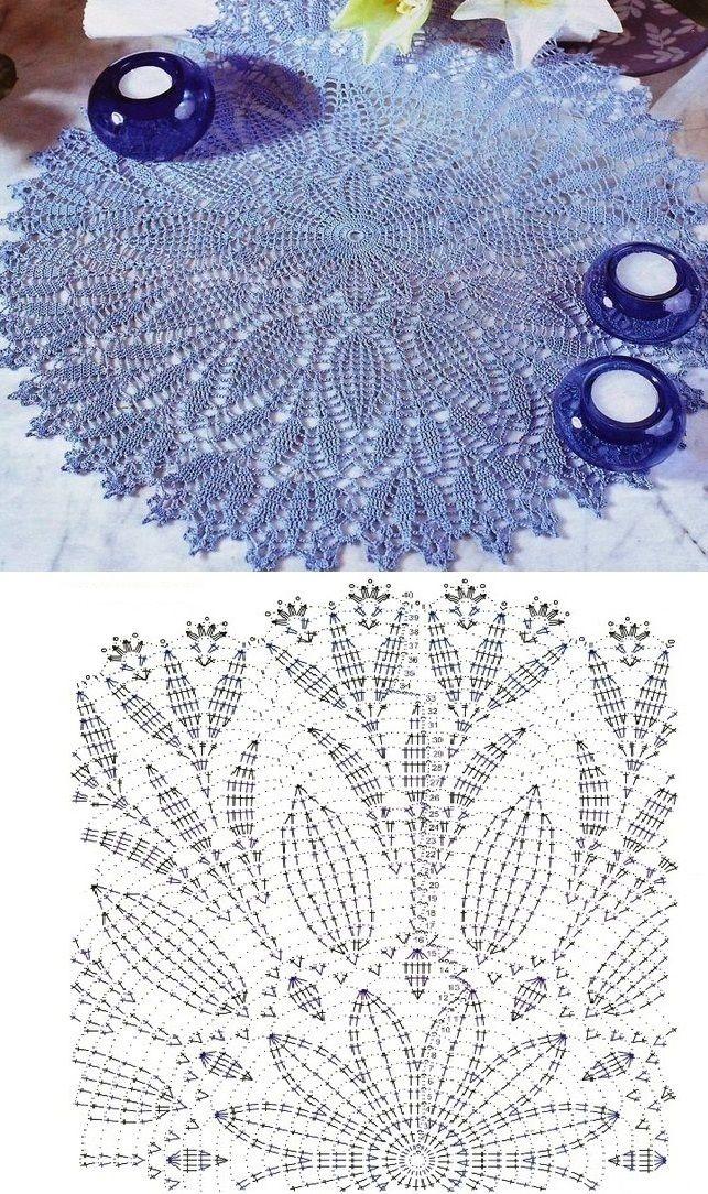 Handmade Tablecloth... ♥ Deniz ♥ | Crochet | Pinterest | Carpeta ...