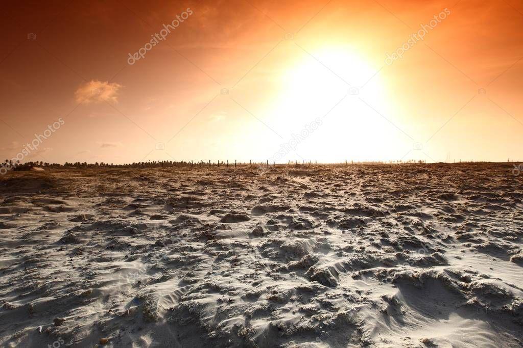 Desert sand blue sunny sky stock image sponsored blue