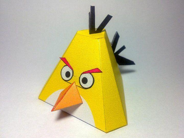 Yellow Angry Bird Papercraft