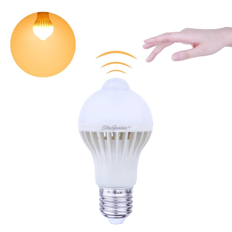 Motion sensor led light bulbw lm e vautomatic infrared