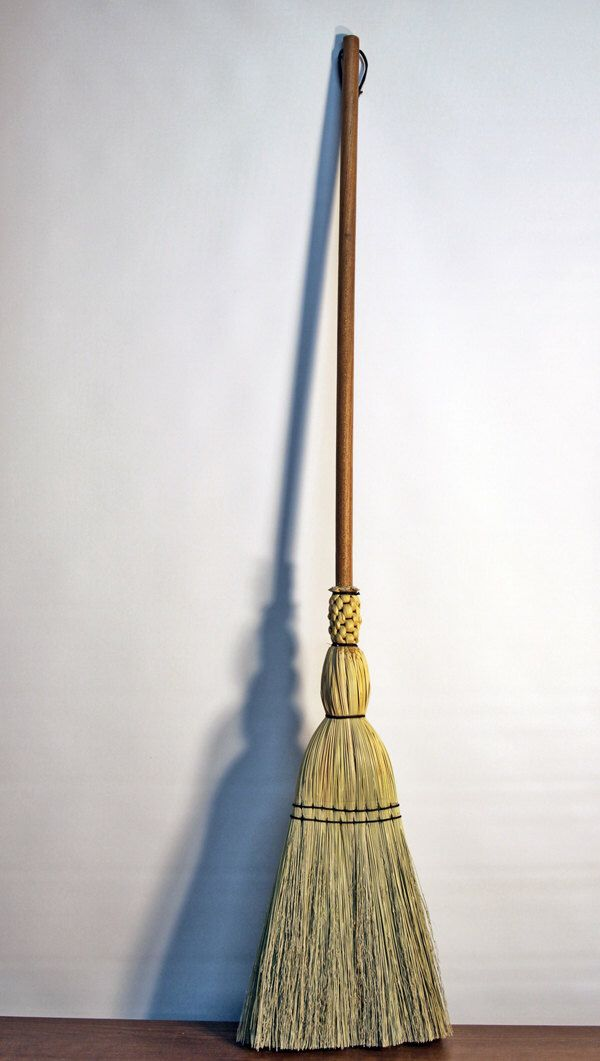Shaker Floor Broom   Hand Made   Broom Corn   Traditional Woven Sweep    Kitchen  Porch Floor Besom