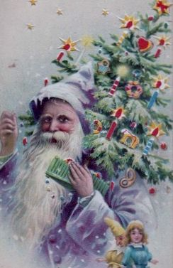 Santa in a rare purple outfit - Germany