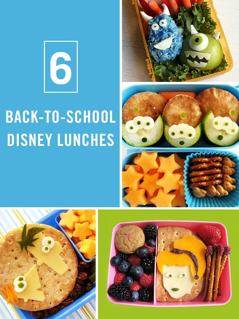 6 Back-to-School Disney Lunches   Bento box lunch, Disney food and ...