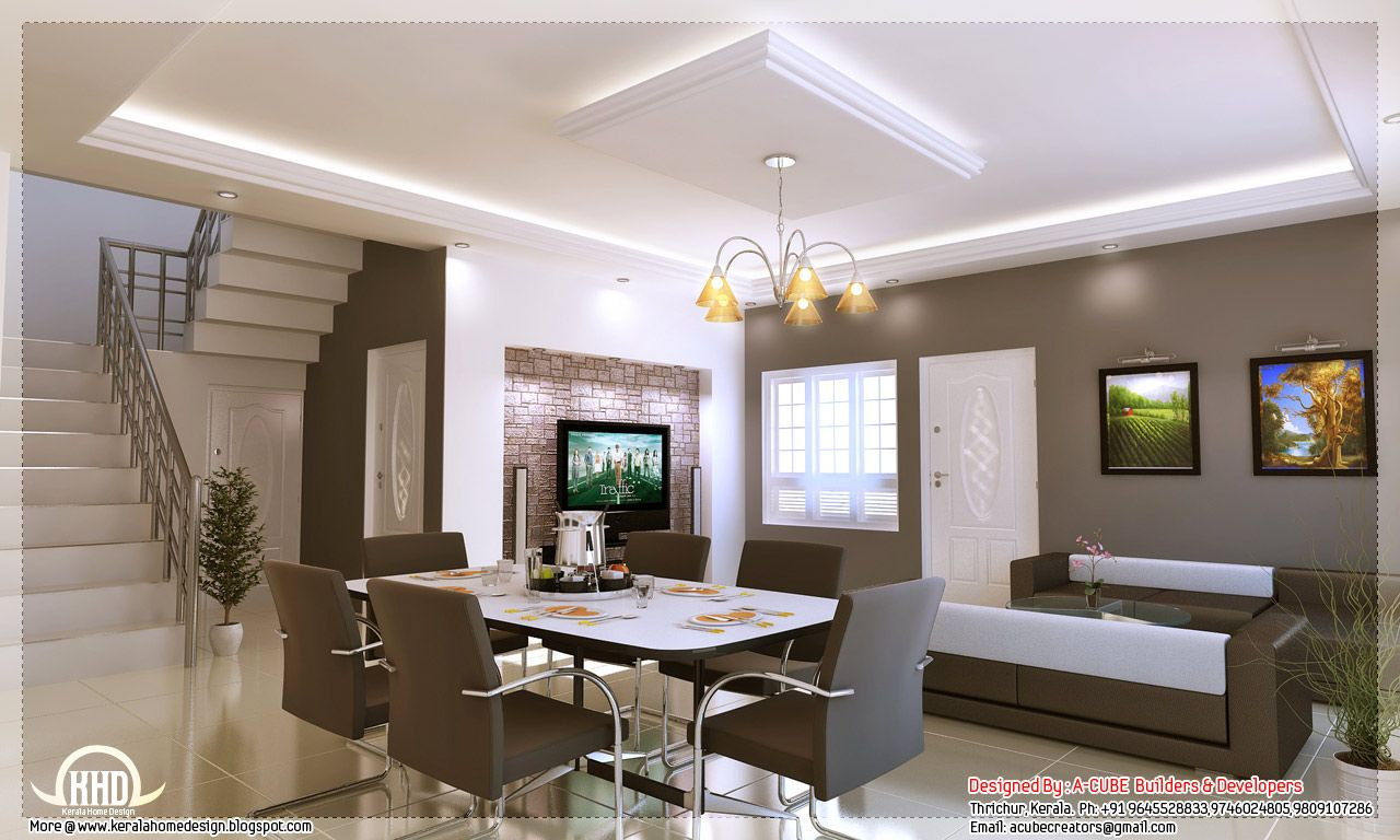 Kerala Style Home Interior Designs Design And Floor Decoration Modern Interior House Designs In Kerala Interior Design Kerala House Design Interior Design Dining Interior Design Dining Room