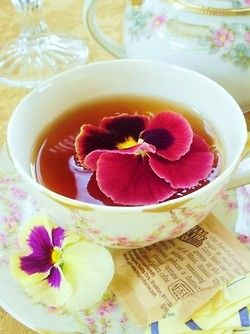 Come With Me To The Sea Of Love Tea Edible Flowers Recipes Tea Cups