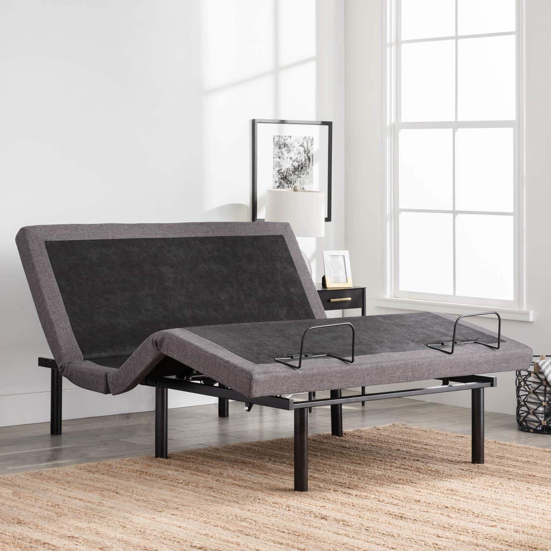Lucid L300 Adjustable Bed Base (Twin XL), Grey