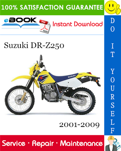 Suzuki Dr Z250 Motorcycle Service Repair Manual 2001 2009 Download Repair Manuals Suzuki Repair