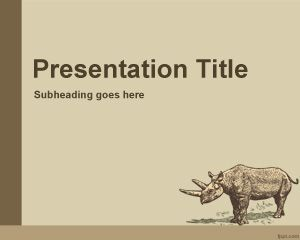 Animal History Teaching Theme Powerpoint Template For Animal