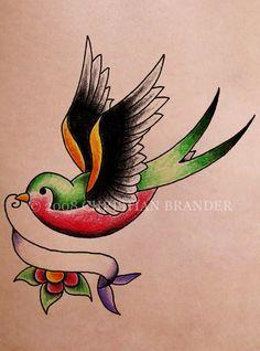 Pretty bird tat