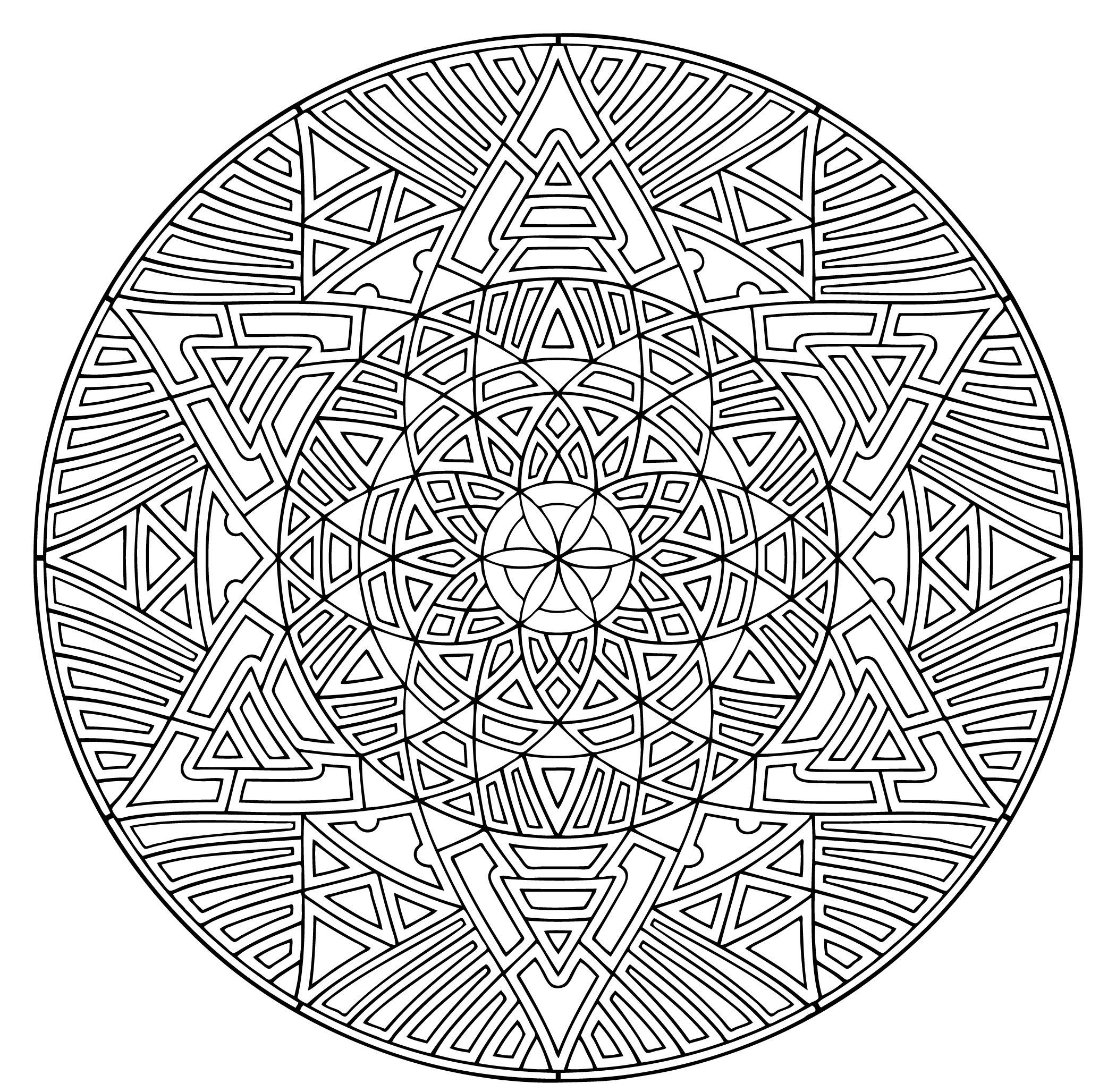 Simple Kaleidoscope Coloring Pages, Kids, Kaleidoscope Coloring