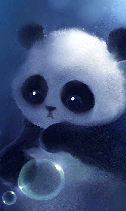 Et Voila Mon Nouveau Fond D Ecran De Verrouillage Si Vous Le Trouver Beau Piner Le Ou Mettre Un Coeur Art De Panda Papiers Peints Mignons Panda Mignon