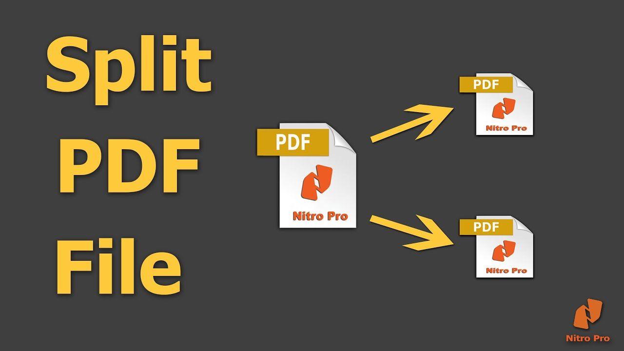 How To Split Pdf File Into Multiple Pdf Files Using Nitro Pro Nitro Pro Nitro How To Split