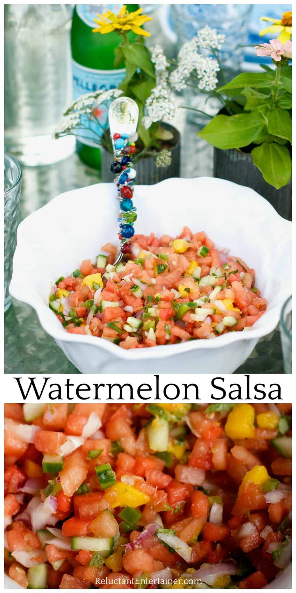 Mix your favorite salsa ingredients together with diced watermelon and mango, and you will have the Best Watermelon Salsa recipe.