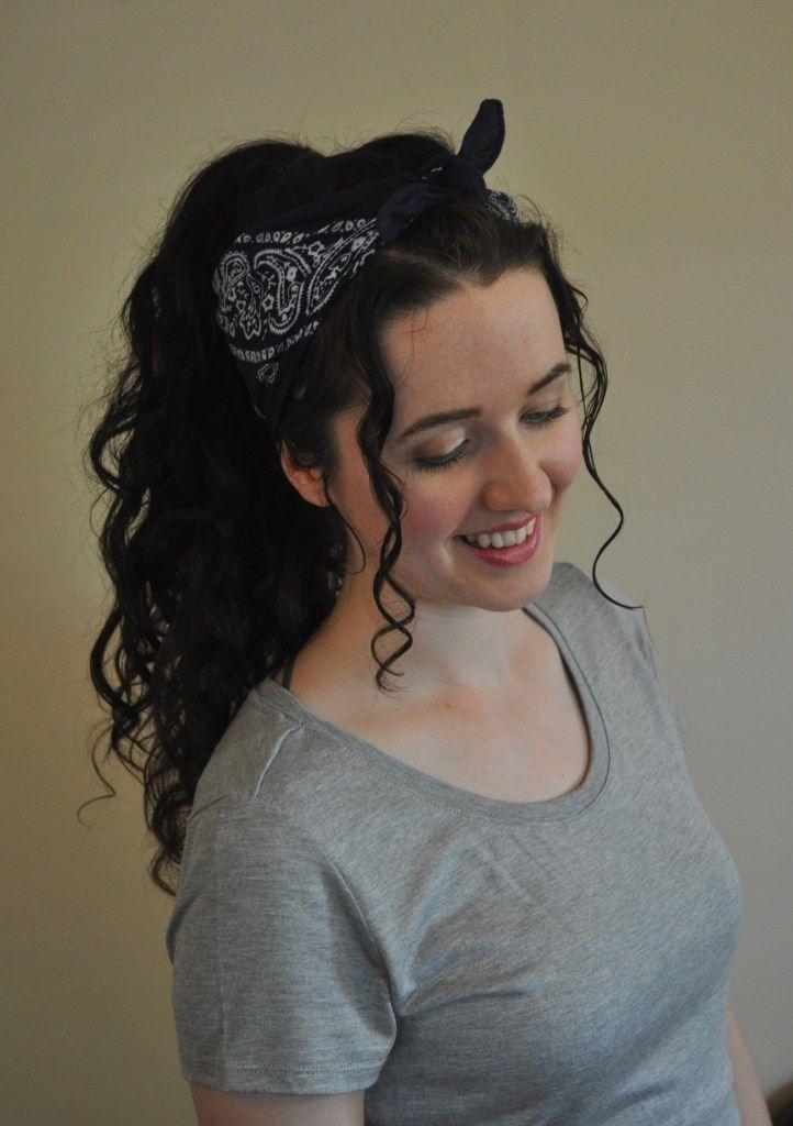 5 Summer Bandana Hairstyles for Curly Hair | Bandana ...