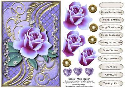 Rose of Mine Topper 1 - CUP512524_99 | Craftsuprint
