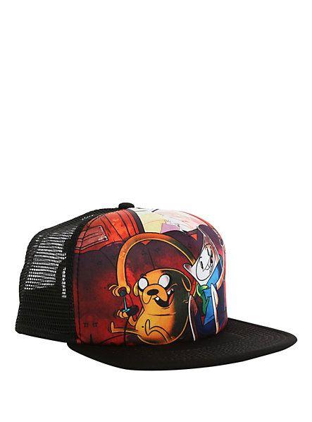 b3205c3591d Adventure Time Finn   Jake Gaming Snapback Trucker Hat