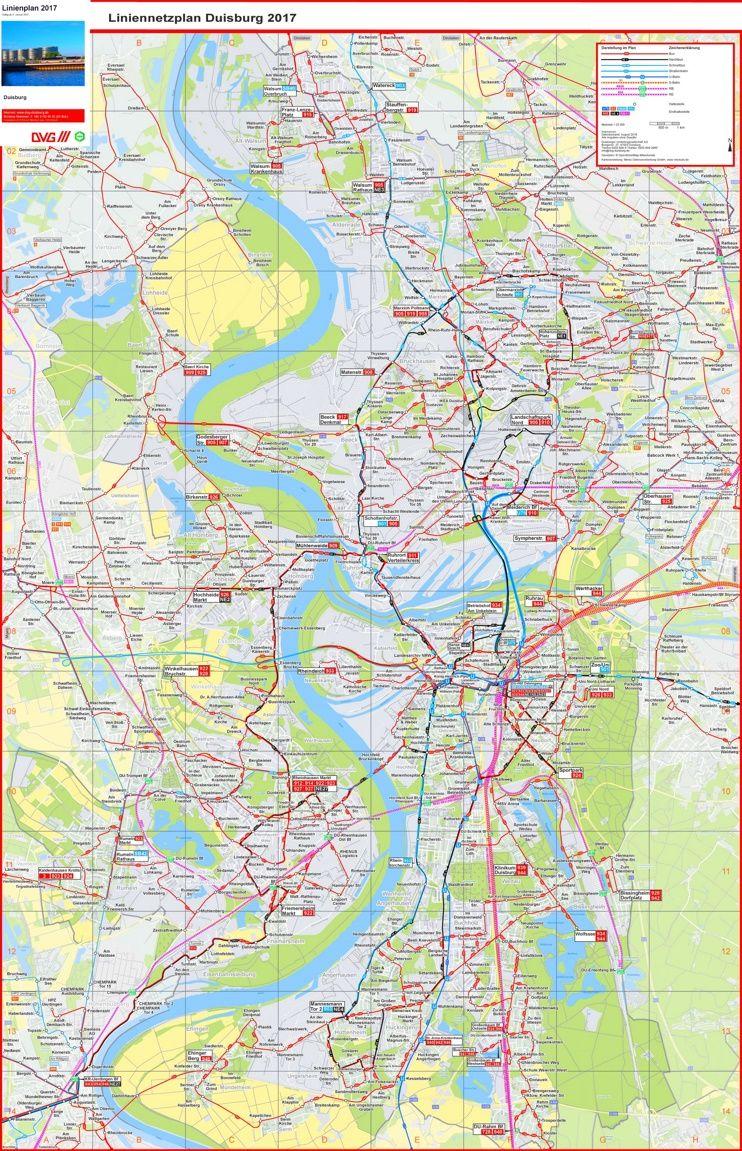 Duisburg transport map Maps Pinterest