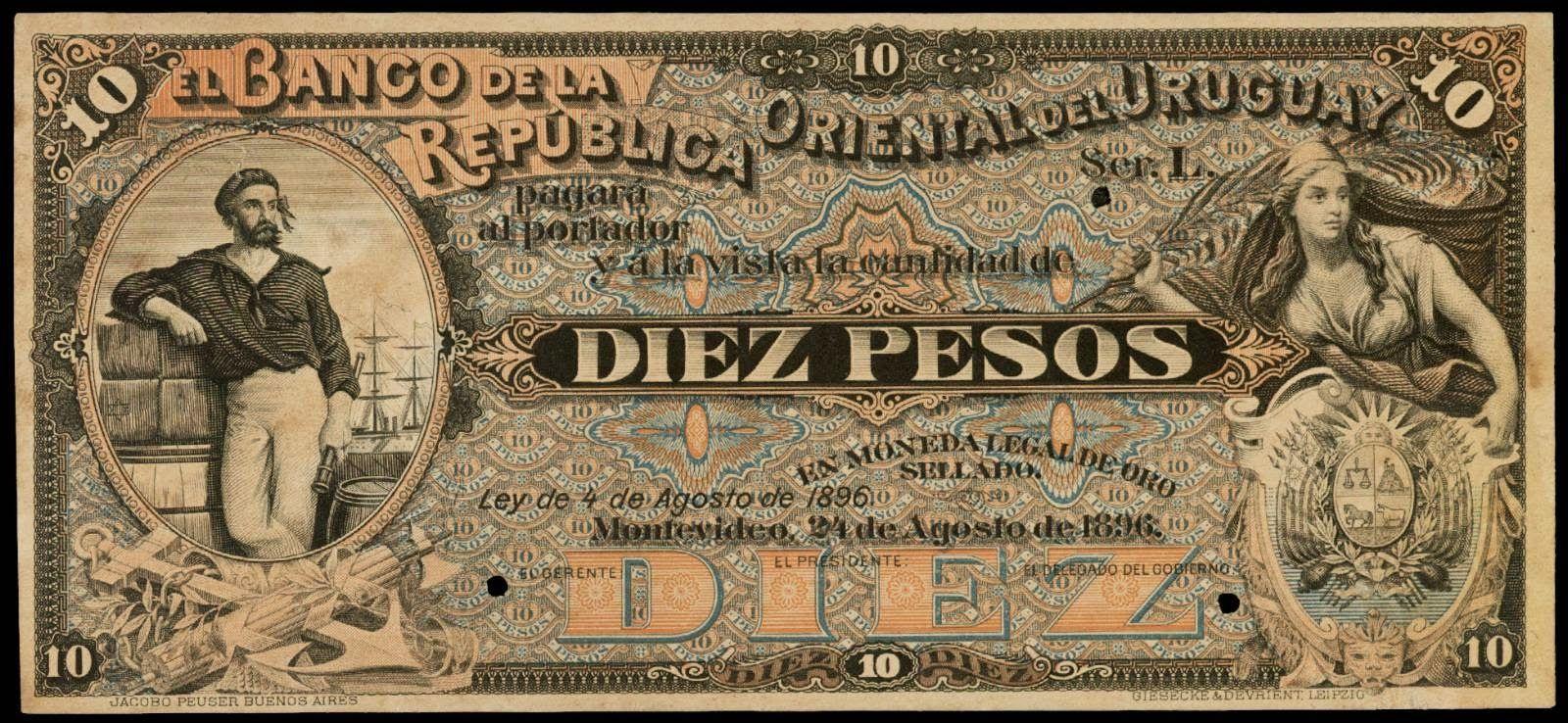 Http Www Worldbanknotescoins Com 2015 02 Uruguay 10 Pesos