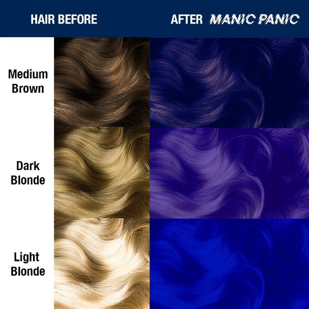 Guilt Free Glamour Shocking Blue Is A Dark Blue Hair Dye With Purple Undertones This Color Can Add Dark Blue In 2020 Dyed Hair Blue Green Hair Colors Dark Blue Hair
