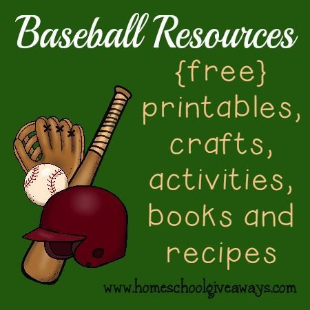 Photo of Baseball Resources: {free} printables, crafts, activities & MORE! – Homeschool Giveaways