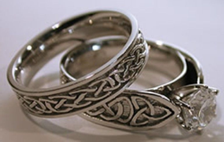 pagan wedding decorations celtic wedding rings sets