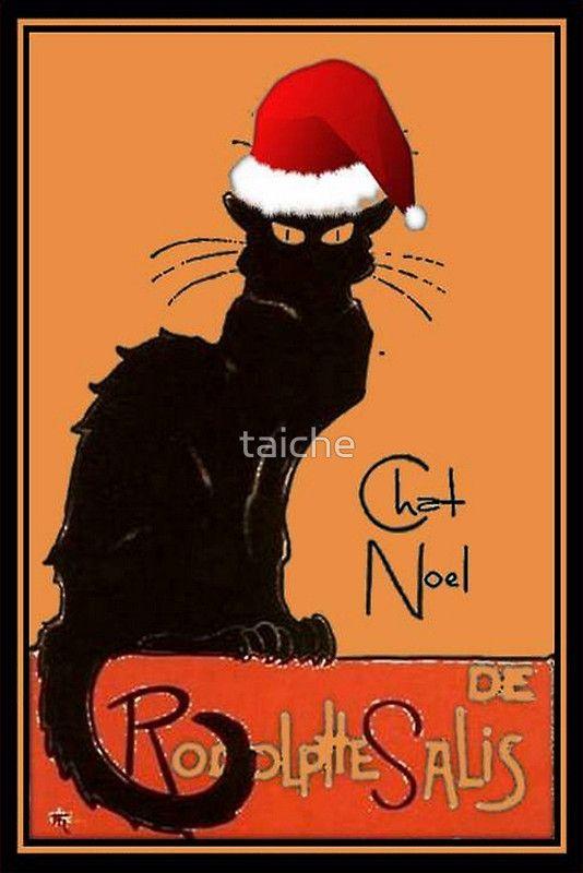 Le Chat Noel http://www.redbubble.com/people/taiche/works/6240606-le-chat-noel?asc=u