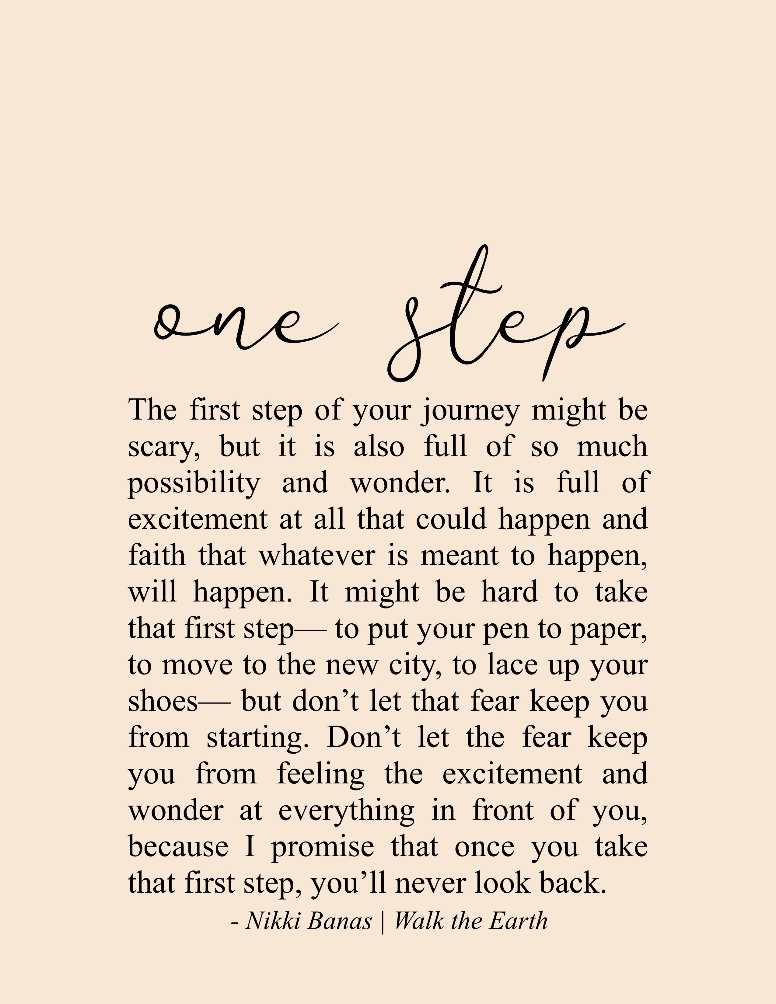 Fresh Start Quotes Beginnings Inspiration Fitness Journey Nikki Banas Walk The Earth Poetry Steps Quotes Start Quotes Self Quotes