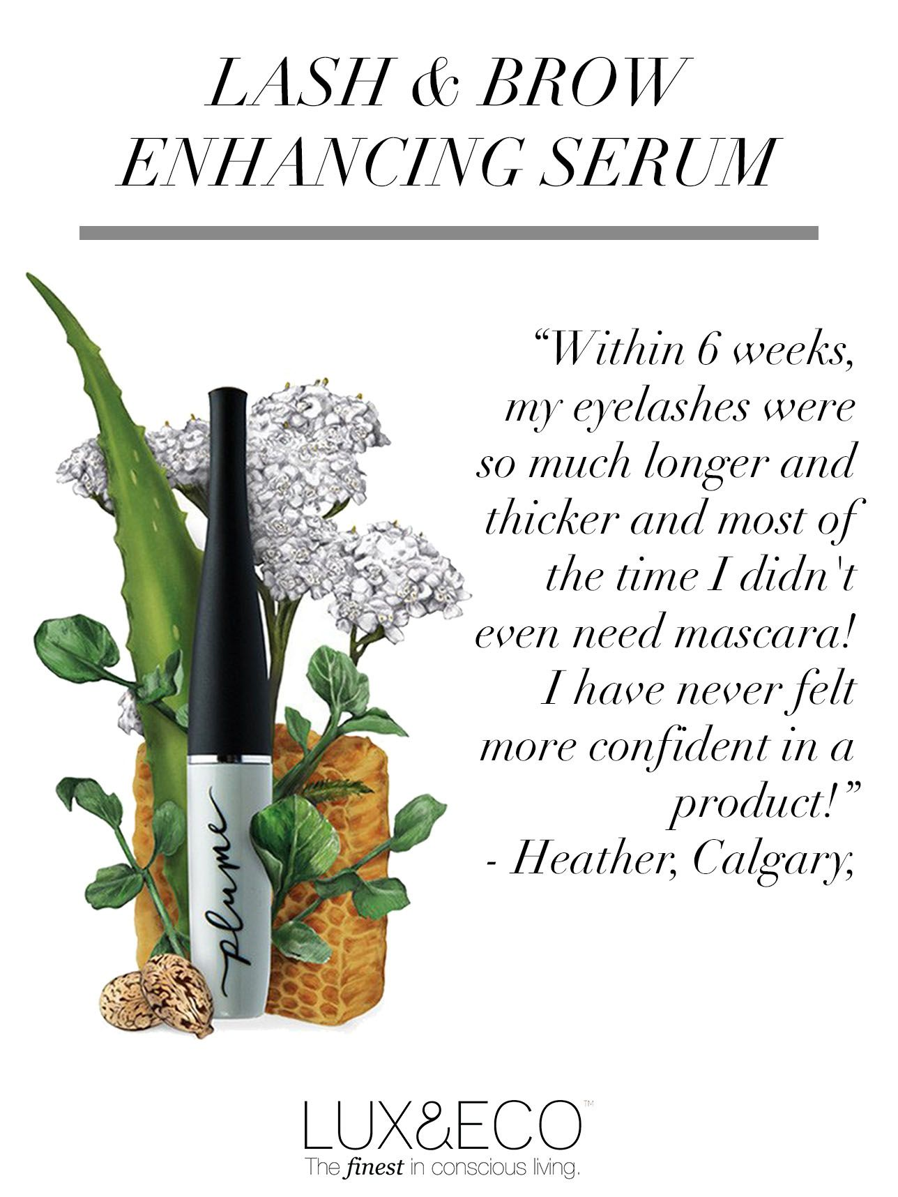 Formulated with all-natural, organic ingredients like organic castor oil, honey extract and aloe vera, this serum is designed to lengthen and thicken your lashes and brows.