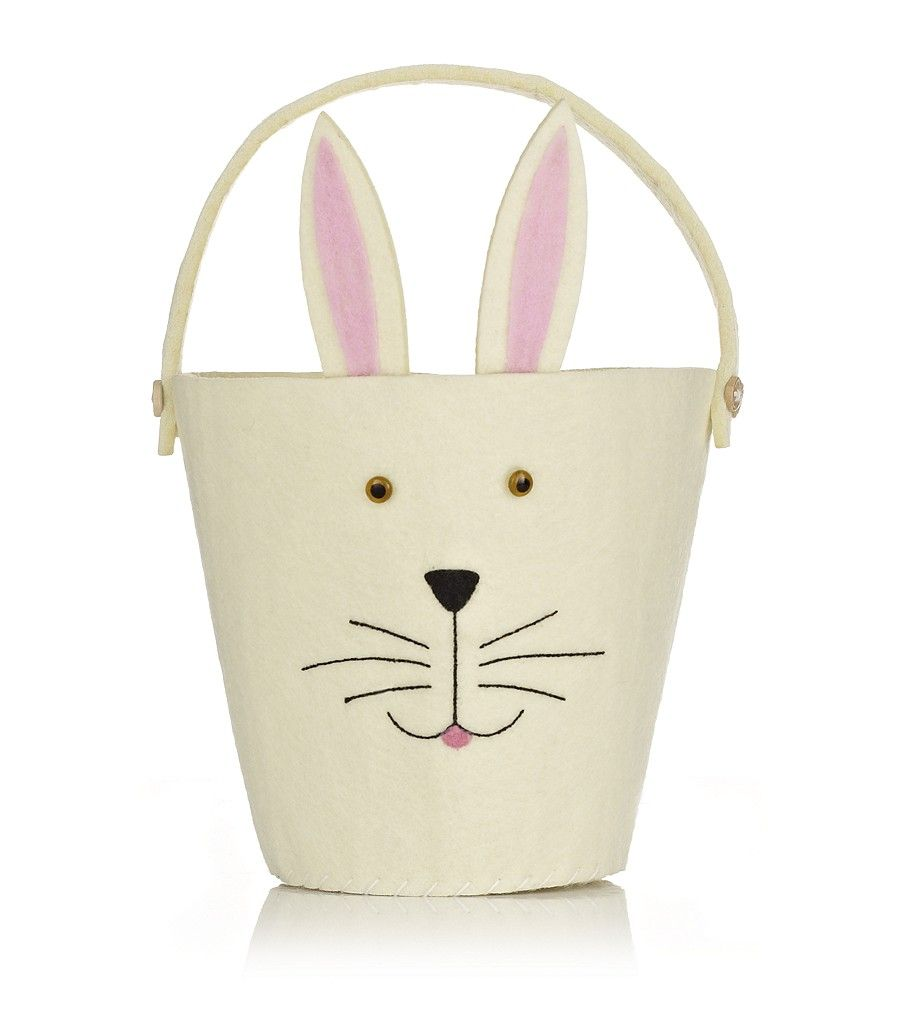 Designer clothing luxury gifts and fashion accessories harrods keep your easter treats contained in this harrods felt rabbit bucket generously sized with a negle Choice Image