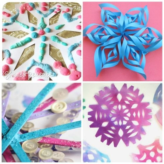 25 Cute And Easy Snowflake Crafts Activities Treats To Make This Winter
