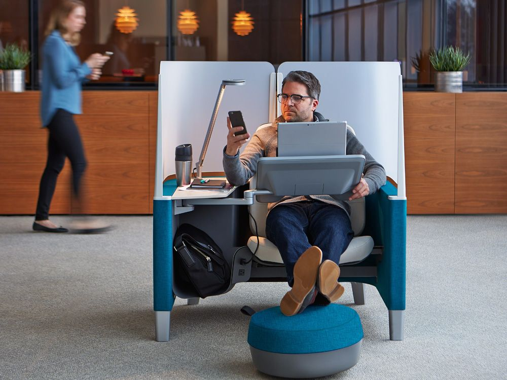 A Private Office Pod That Ll Help You Find Your Work Flow Office Pods Open Office Private Office