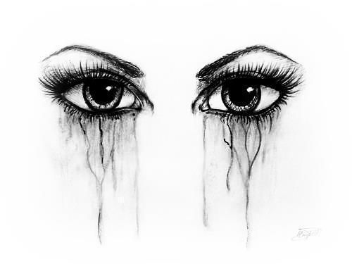 Girl crying her eyes out i drew this and i was very proud if it but not going to pin it until later