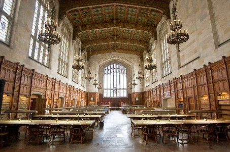 The historic Reading Room at the University of Michigan Law ...