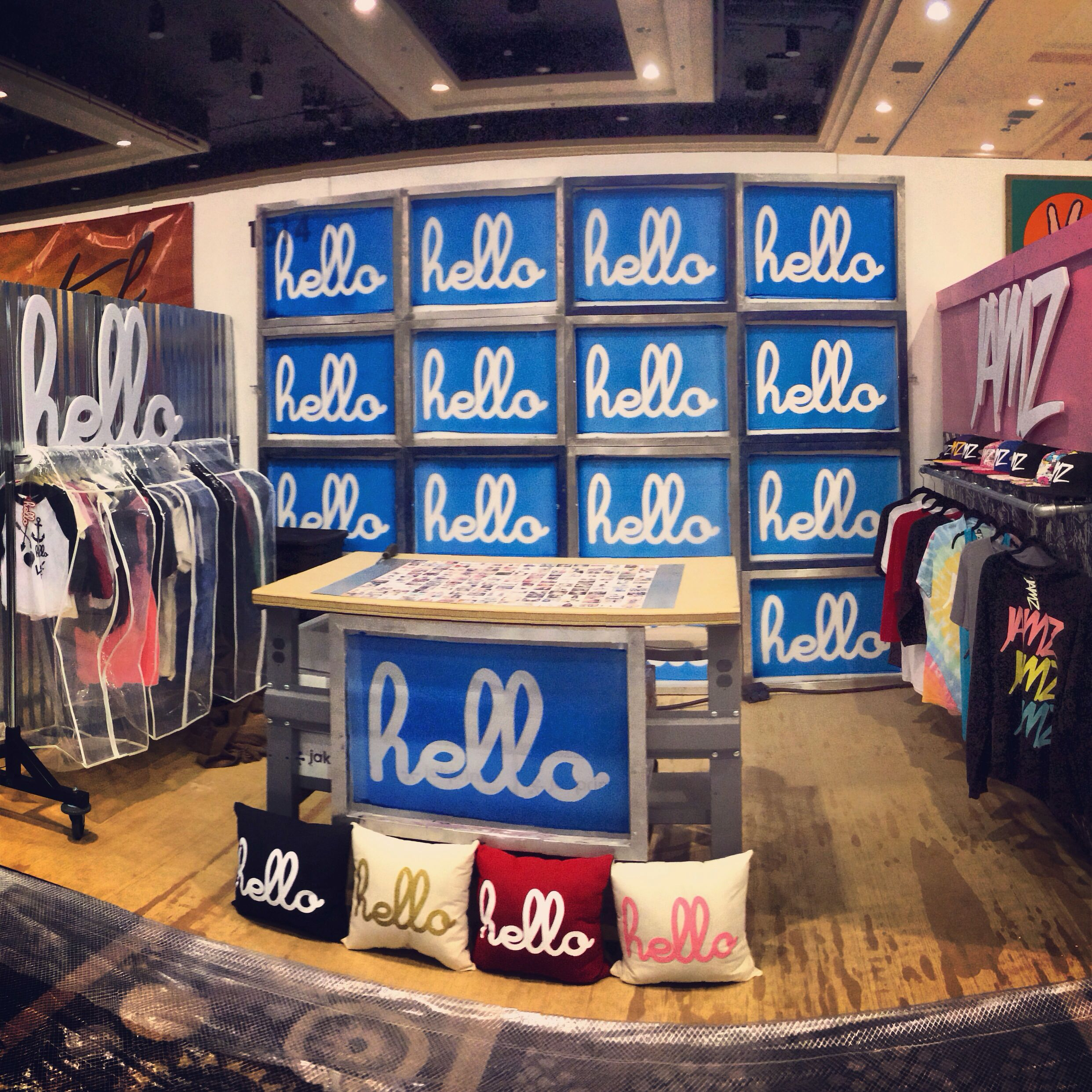 Hello apparel trade show booth for pool trade show for Pool trade show