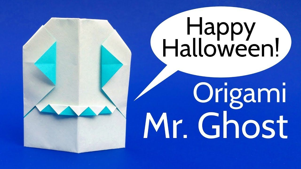 Origami mr ghost tutorial diy paper ghost for halloween learn how to fold a cool origami ghost this paper ghost looks a bit like a ghost from pacman but it has teeths mister ghost is an easy origami model for jeuxipadfo Choice Image